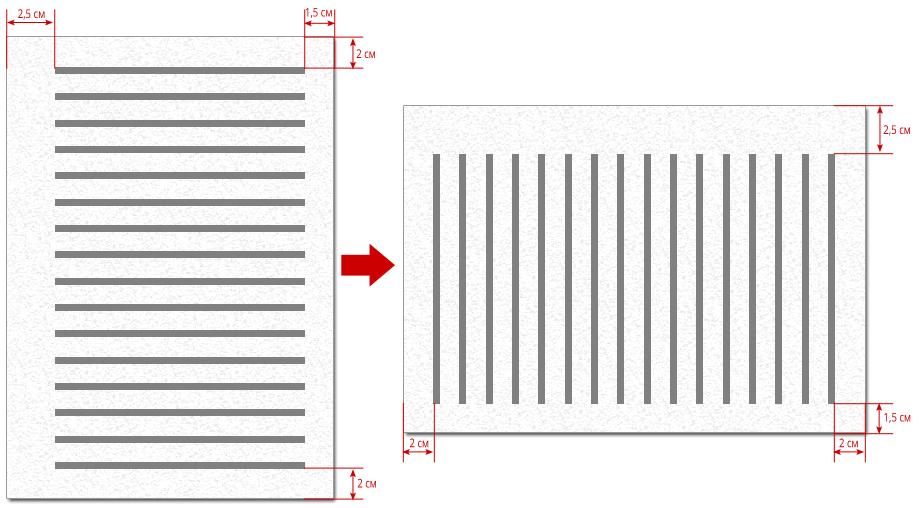 Границы печатного поля