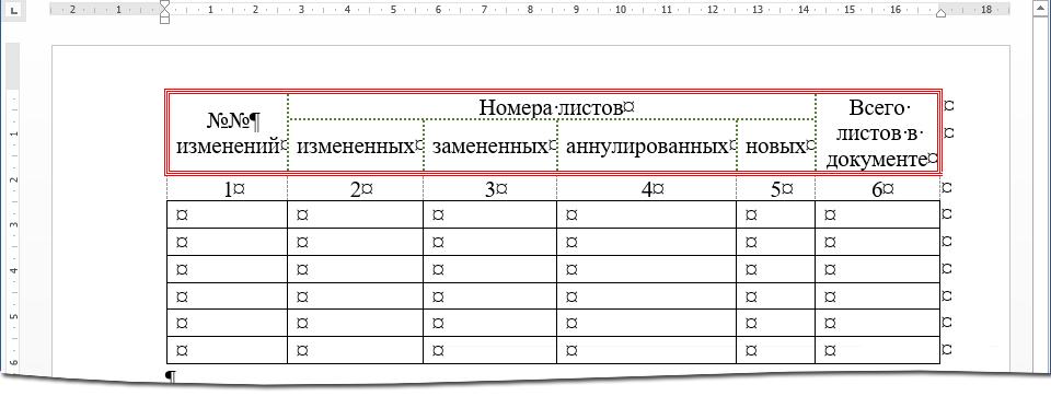 Ячейка таблицы