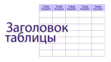 заголовок таблицы